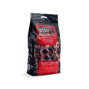 Weber 17591 – Briquetas de carbón vegetal para barbacoa, 8 kg, 1 Unidad