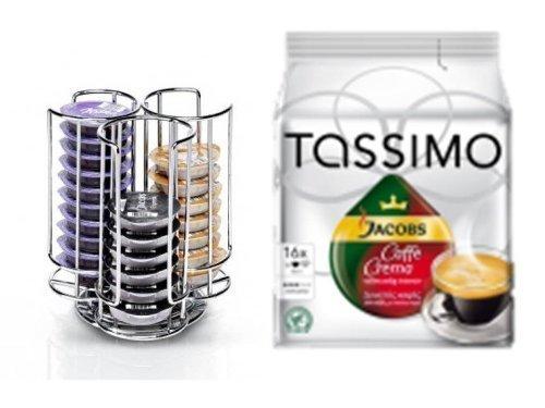 Tassimo Kapselhalter für 30 Kapseln + 1 Packung TASSIMO JACOBS Caffè Crema vollmundig intensiv 16 T-Discs