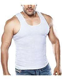 Dixcy Scott Men's Cotton Vest (Colour-White)(Pack Of 5) With Free Aavkar™ Men's White Cotton Handkerchief Worth...