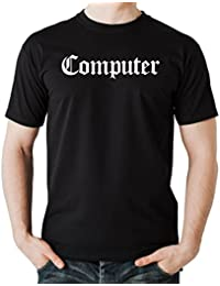 Computer T-Shirt Black Certified Freak