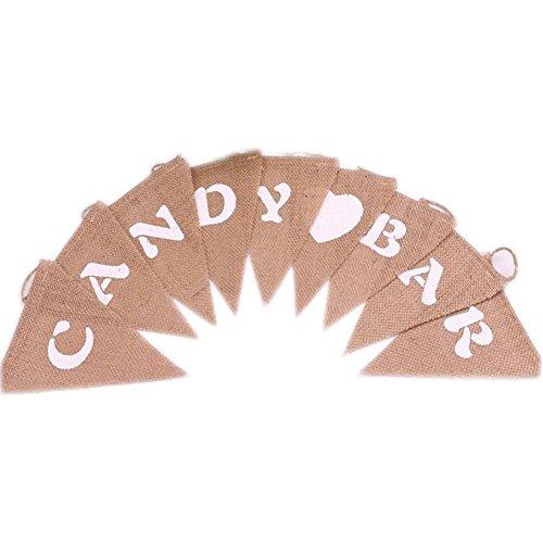 ner - Vintage Dreieck Flaggen-Fahnen mit 9pcs Flaggen-Partei-Dekoration (Candy Land Party)