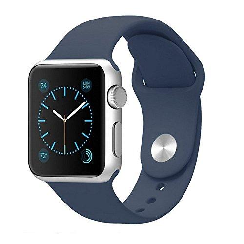Preisvergleich Produktbild kokome Weiche Silikon Sport Stil Ersatz Apple Watch Band Wrist Band (38,  dunkelblau)