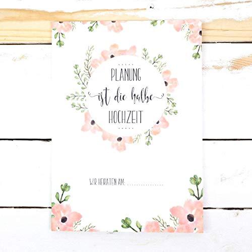 Hochzeitsordner, Sammelmappe *Planung ist die halbe Hochzeit*, Hochzeit planen, Hochzeitsplaner, Hochzeitsvorbereitung