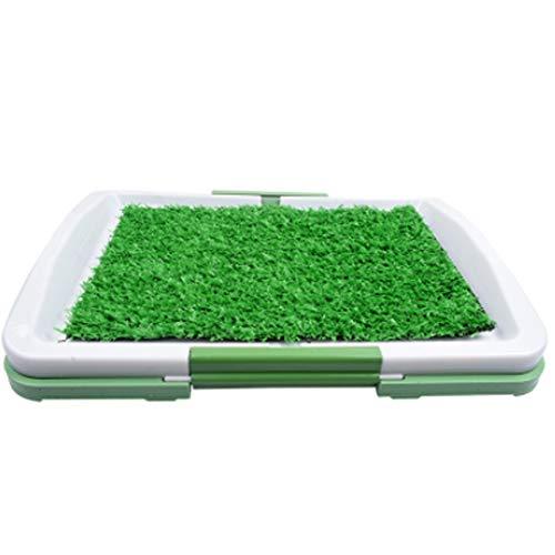 PDDJ Hundewelpen-Trainings-Pad-Innentopf-Trainer-Gras-Pee-Auflage mit künstlicher Grasbad-Matte für Welpen und kleine Haustiere -