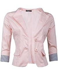 GIOVANI & RICCHI Eleganter Damenblazer Baumwolle in mehreren Farben 36 38 40 42