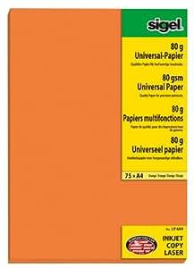 """Sigel Papiers """"Couleurs Intensives"""" A4 80G Orange 75F"""