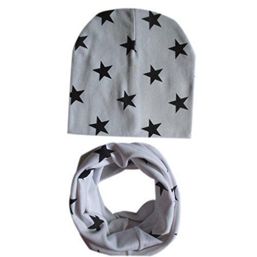 Babybekleidung Schals Longra Baby Mütze Schal jungen Mädchen Kleinkinder Schal Kind Schal Hüte Mützen (White)