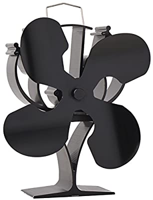 New designed 4 Blades Heat Powered Stove Fan for Wood / Log Burner/Fireplace - Eco Friendly