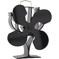 VODA Nouveau conçu pour 4Lames Chaleur Alimenté Poêle Ventilateur pour Bois/bûches Brûleur/cheminée–Respectueux de l'environnement
