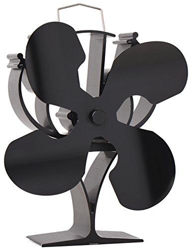 VODA Diseñado 4Cuchillas Ventilador para Estufa Quemador de Madera/Registro/Chimenea-Respetuoso con el Medio...
