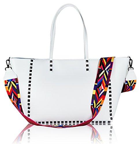 Millennium Star – Cleopatra echte Leder-Handtasche 100% Made in Italy (Millennium-leder-handtasche)