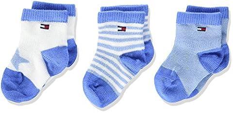Tommy Hilfiger Baby-Jungen Socken TH Newborn Giftbox 3P, 3er Pack, Blau (Baby 397), 15 (Manufacturer Size:14)
