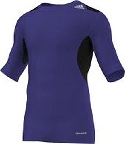 adidas Herren Kurzarm T-Shirt Techfit Powerweb Violett