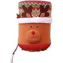 TEBAISE Navidad Carnaval Decoración Navidad Antipolvo Cubo de Agua Dispensador Contenedor Botella Limpiador Xmas Decor,