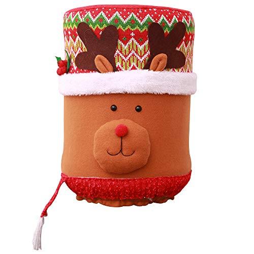 TEBAISE Navidad Carnaval Decoración Navidad Antipolvo Cubo de Agua Dispensador Contenedor Botella Limpiador Xmas Decor, plástico, c, Talla única