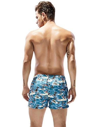 SEOBEAN Herren Badehose Badeshorts Board Shorts Strand Shorts 2917