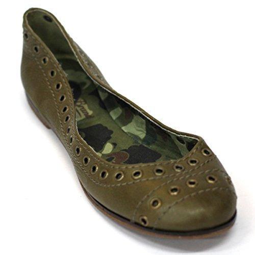 Lucky marchio mid piatto scarpe, dimensioni UK 3, da £118 Verde (verde)