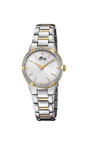 Lotus Watches Womens Analogue Classic Quartz Watch with Stainless Steel Strap 18455/1