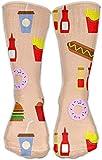hgfyef Food Man Cool Knee High Socks