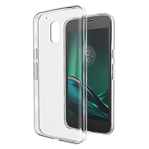 MTT Crystal Clear Transparent Soft Jelly Flexible Back case Cover for Moto G4 Play