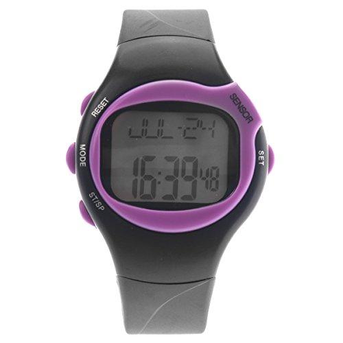 Foto de Pixnor 0441 impermeable Unisex pulso pulso Monitor calorías contador deportivo reloj Digital (púrpura)