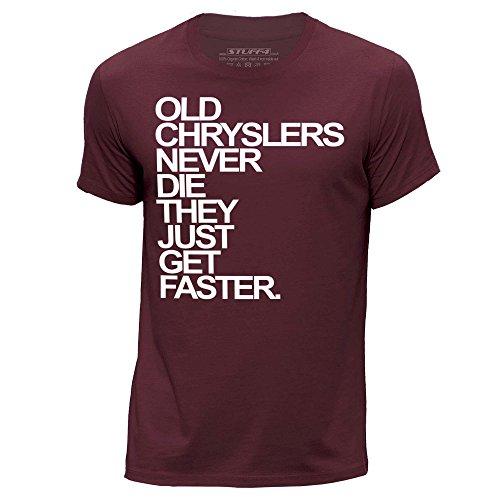 stuff4-uomo-xxx-grande-3xl-borgogna-girocollo-t-shirt-old-chryslers-chrysler-never-die