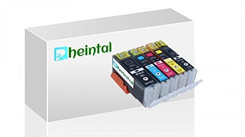 Preisvergleich Produktbild Rheintal - 5 XL Ersatz Chip Patronen kompatibel zu Canon PGI-570 PGBK XL Schwarz, CLI-571BK XL Foto-Schwarz, CLI-571C XL Cyan, CLI-571M XL Magenta, CLI-571Y XL Gelb