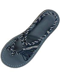 LHWY Danza Mujeres Cáñamo Cuerda Chanclas Sandalias Moda de Verano Zapatos de Playa Romanos Zapatillas