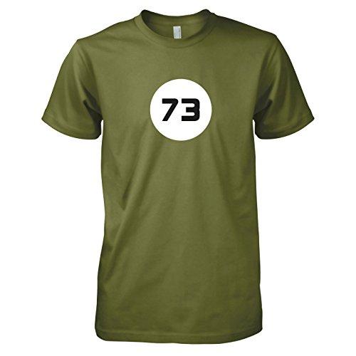 TEXLAB - TBBT: The Best Number 73 - Herren T-Shirt Oliv