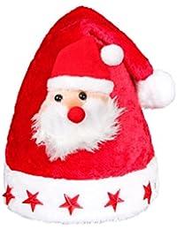 Alsino Weihnachtsmütze mit Blinksternen und Weihnachtsmann für Kinder 46