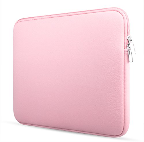 Crisant Style Simple Sleeve Housse pour ordinateur portable 11-11.6 inch,Coton Notebook antichoc Computer Briefcase Sacoche Case Cover Pour MacBook / MacBook Air / Asus Zenbook / Lenovo / Samsung / Sony / Chromebook (Rose)