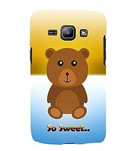 Teddy Bear 3D Hard Polycarbonate Designer Back Case Cover for Samsung Galaxy J1 (2016) :: Samsung Galaxy J1 (2016) J120H