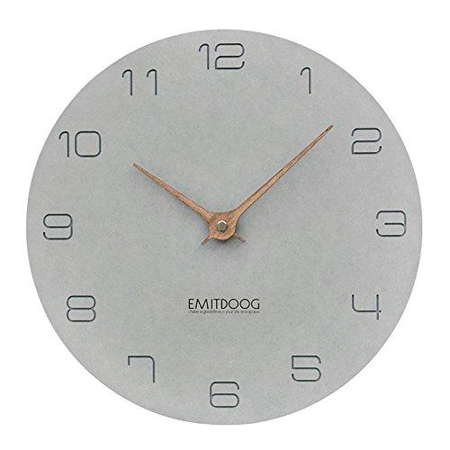 """PANCY Moderne Wanduhr ohne Tickgeräusche, Graue Wanduhr Lautlos 12 Zoll &15 Zoll,, Ideale Wanduhr (Grau A, Durchmesser Φ 29cm (12""""))"""