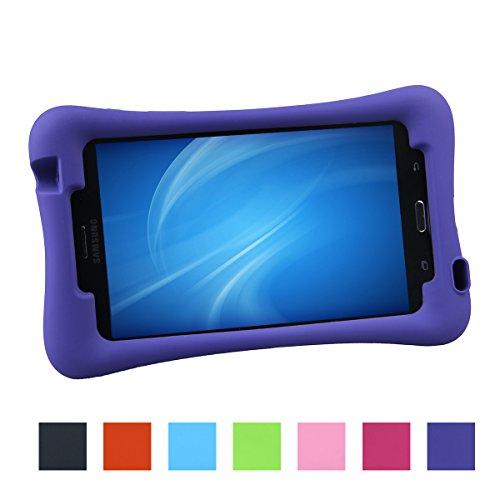 NEWSTYLE Samsung Galaxy Tab 4 7.0 Kinderfreundliche EVA Hülle Schutzhülle Tasche Case für Samsung Tab 4 SM-T230 / T231 / T235 (7 Zoll) - Voilett (4 Galaxy Tab Case Kind)