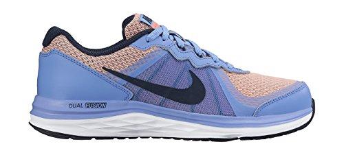 Nike Dual Fusion X 2 (Gs), Scarpe da Corsa Bambine e Ragazze Multicolore (Azul / Negro / Amarillo / Blanco (Chalk Blue / Obsdn-Brght Mng-Wht))