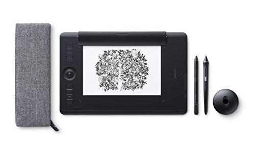 Wacom Intuos Pro Paper Edition Stifttablett Größe M – Grafiktablett mit Papierklemme inkl. Wacom Pro Pen 2 Eingabestift mit verschiedenen Spitzen & Wacom Finetip Pen – Kompatibel mit Windows & Apple