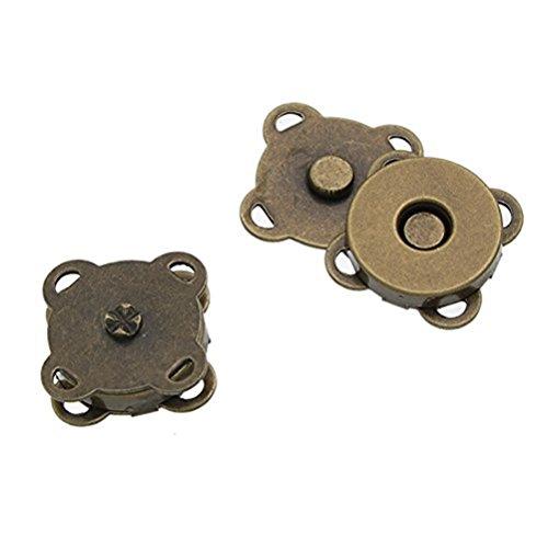 WINOMO Bottoni magnetici 10 * 15mm cucire In borsa magnetico fermagli per cucire Craft (bronzo)