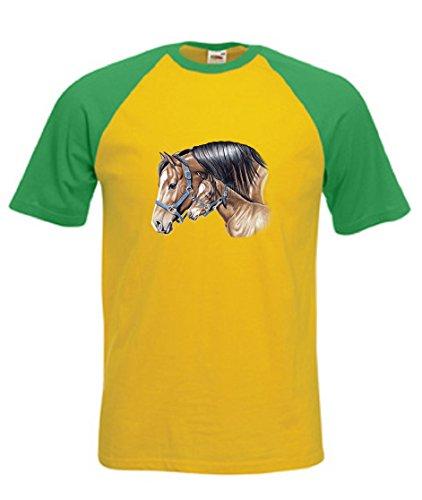 simply-tees-cavalla-e-puledro-prima-data-adults-maglietta-a-maniche-corte-da-uomo-da-baseball-canary