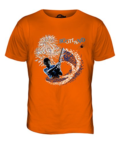 CandyMix Schottland Cricket Herren T Shirt Orange