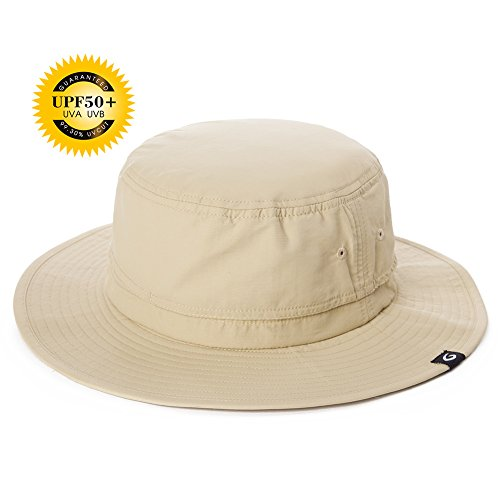 SIGGI Unisex Faltbarer Boonie Buschhut Sonnenhut Outdoor UPF 50+ beige