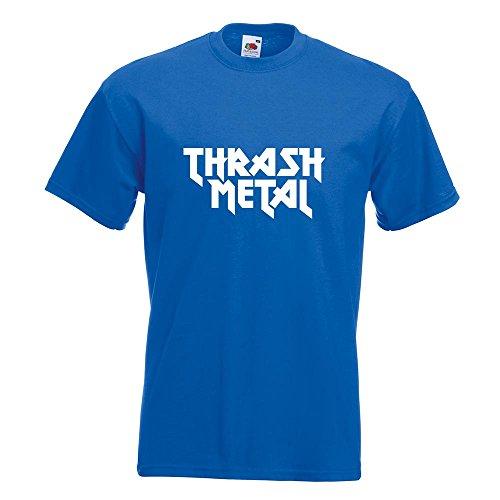 KIWISTAR - Thrash Metal Hardcore Heavy Death Guitar T-Shirt in 15 verschiedenen Farben - Herren Funshirt bedruckt Design Sprüche Spruch Motive Oberteil Baumwolle Print Größe S M L XL XXL Royal