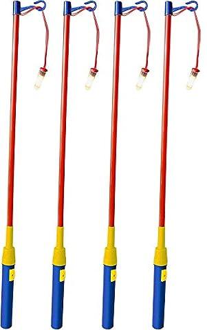 iLP 4er Set elektrischer Laternenstab ca.49cm für Kinder-Geburtstag, Party, Laternen-Umzug, St. Martin und mehr 4er-Pack