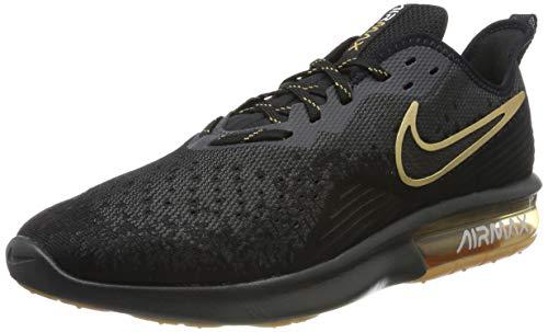 da6c72e75e Nike Air MAX Sequent 4, Zapatillas de Gimnasia para Hombre, Negro  Black/Anthracite