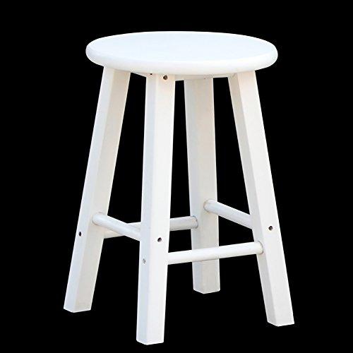 YXX- Stab-Retro- hölzerner Schritt-Schemel für Erwachsen-Küche hölzerne Strichleiter-kleine Fuß-Schemel-Haushaltswaren-tragbarer Schuh-Bank/Blumen-Gestell (Farbe : Weiß, größe : 30*50cm)