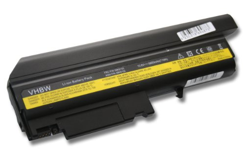 vhbw Li-Ion Akku 6600mAh (10.8V) für Notebook Laptop IBM ThinkPad T41, T41P, T42, T42P, T43, T43 1871 Wie ASM 92P1076, 08K8194, 92P1010,u.a. (T41 Mini T42)