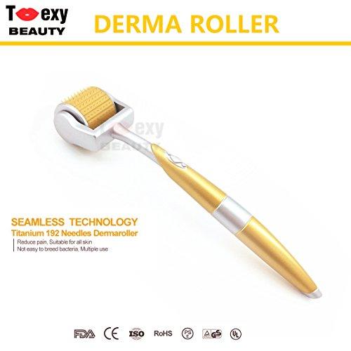 0.75mm Derma Roller Dermaroller Micro Agujas 192 Agujas rodillos para rostro cuerpo piel masajeador belleza herramienta para Antienvejecimiento Microagujas