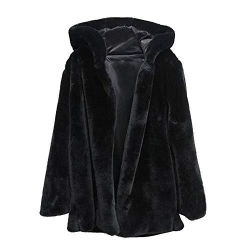 YEBIRAL Femmes Automne et Hiver Nouveau La Mode Couleur Unie À Capuche Fausse Fourrure Manteau Veste d'hiver Parka Survêtement Top