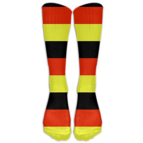 Roue German Flag Germany Adult Cotton Knee High Soccer Sports Team Tube Socks Long Stockings Athletic Sport Tube Socks