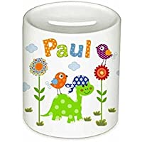 Spardose, Dino, mit Namen, für Kinder, Geschenk, Kinderspardose, Geschenk Taufe, Sparschwein, Geldgeschenke,