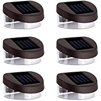 ZJ Luci 6pcs 2LED Solar Luci da parete Stair Lights parapetto Luci viale Lights Illuminazione esterna , red